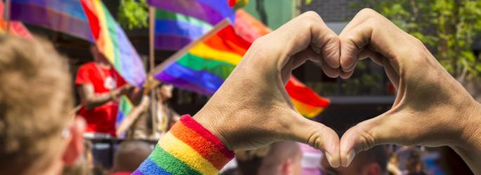 LGBT hand heart