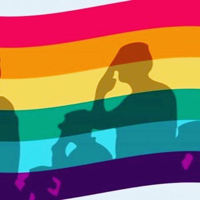 Military rainbow flag